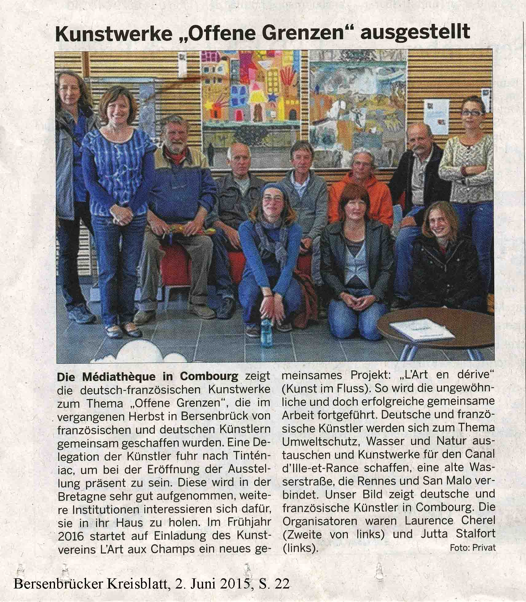 Vernissage in Combourg